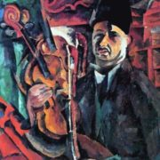 Self-portrait with violin