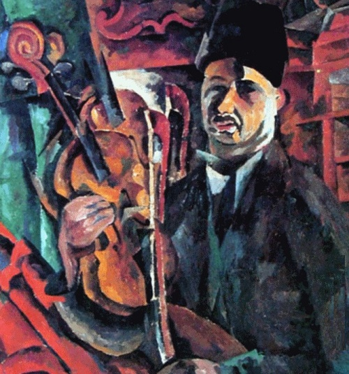 Self-portrait with violin