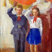 Sergey Dunchev (1916-2004). Pioneer firework. 1980