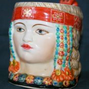 Slavic woman, Tea cup