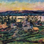Sunset on the Volga. 1928