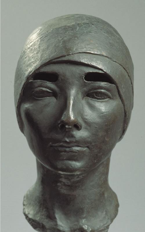 Tsita Volina. 1928 female portrait. The State Tretyakov gallery