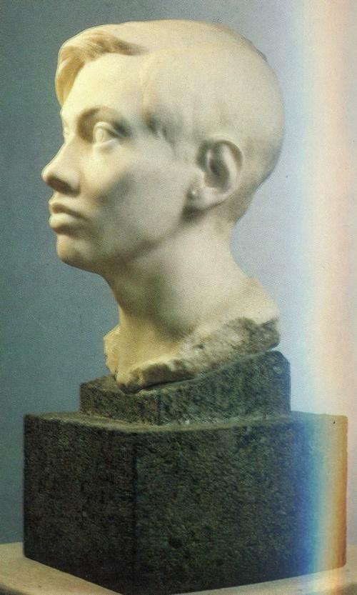 Portrait of V.V. Domogatsky, sculptor's son. 1926. Marble