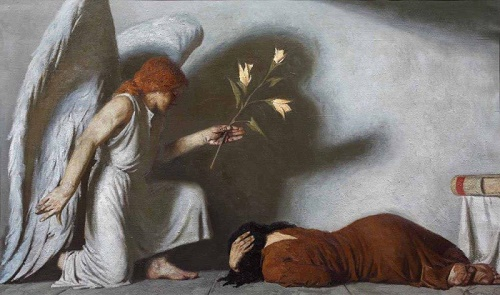 Annunciation. Angel with a flower. 1987