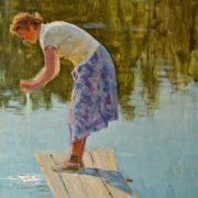 At the water. 1958, sketch