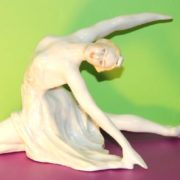 Ballerina porcelain statuette. Sculptor Sychev, 1950s
