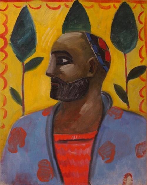 Bearded man, portrait of Uzbek