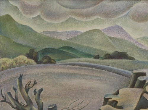 Before the rain. Paper, pastel. 1983