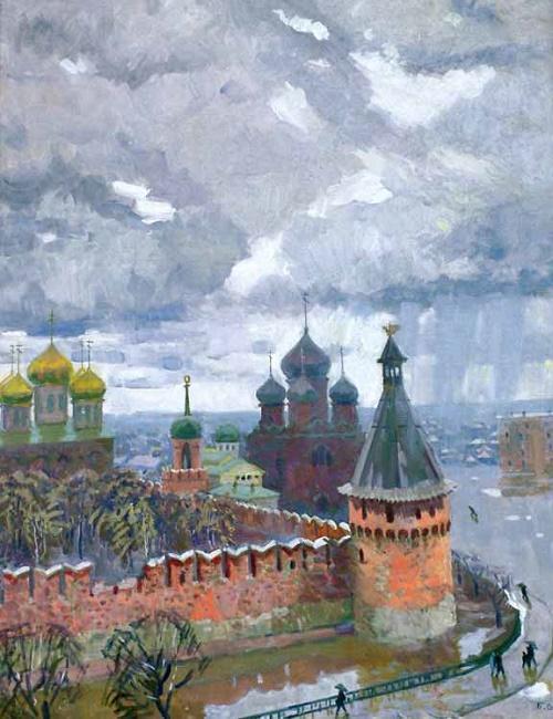 Autumn rains (Tula Kremlin). 1991. Tula Art Museum