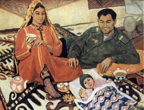 Soviet Turkmen artist Yakub Annanurov 1916-2002. Came back