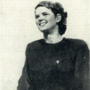 Deputy Secretary of the Komsomol organization of Metrostroy T.K. Rozhkova. 1949