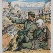 Faithful to the duty and honor defending their own land with fathers and brothers together, Leningrad women in fights