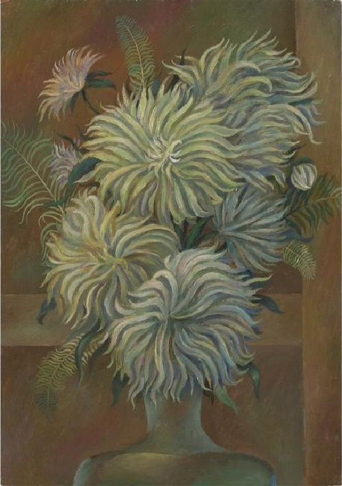 Flowers in the workshop, sketch. 1992