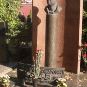 Grave of Serov at the Novodevichye Cemetery in Moscow