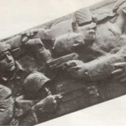 Memorial complex to heroes of the Civil and the Great Patriotic War in Novorossiysk. Monument Malaya Zemlya. relief model. Fragment. Gypsum. 1972