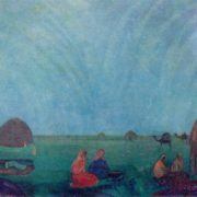 Mirage in the steppe. 1912. Oil on canvas