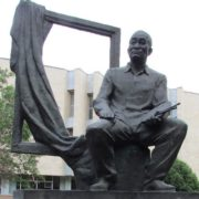 Monument to A. Kasteyev in Alma-Ata at the State Museum of Arts of the Republic of Kazakhstan named after Kasteyev
