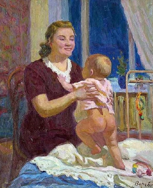 Mother and child. 1958