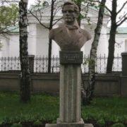 Poet and translator Nikolai Gnedich, monument in Kotelievo, Poltava region