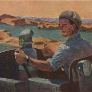 Portrait of M. Charyev bulldozer driver of the Karakum Canal. 1957