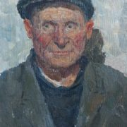 Portrait of an old man. 1950s