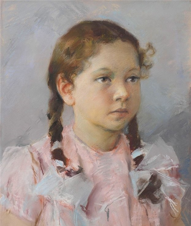 Portrait of daughter Masha. 1961