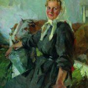 Portrait of the milkmaid K. Koshevaya