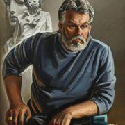 sculptor Anatoly Anikeichik. 1988