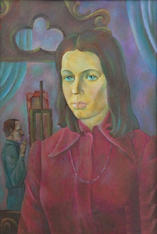 Portrait of wife. 1976. Oil on canvas