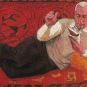 Portrait of writer Ata Koushutov. 1972