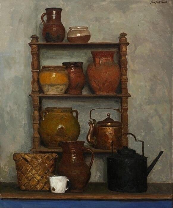 Pots. Still life
