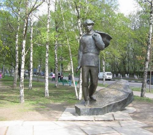 Sergey Yesenin, Russian poet. Monument in Yesenin Boulevard. Work by Soviet sculptor Vladimir Efimovich Tsigal 1917-2013