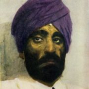 Sikh in the purple turban. 1952