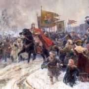 The entrance of Alexander Nevsky to Pskov after the Battle of Ice. 1945. The State Russian Museum. St. Petersburg