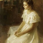 A girl in a white dress