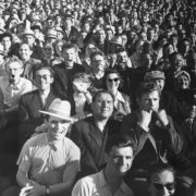 At the football match. 1960