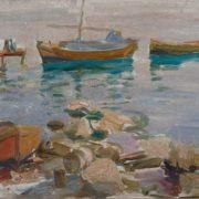Boats at the coast. 1920