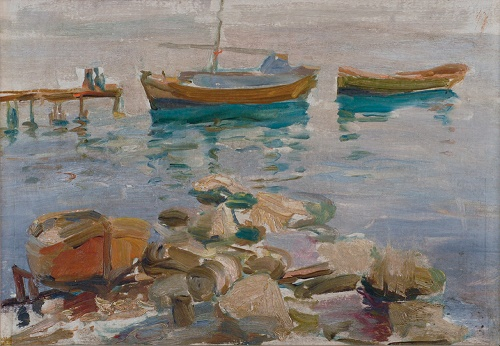 Boats at the coast. 1920