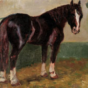 Bonya. Circus horse. 1975. Oil on canvas, oil on cardboard