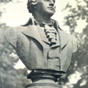 Closeup F. Shubin monument in Leningrad