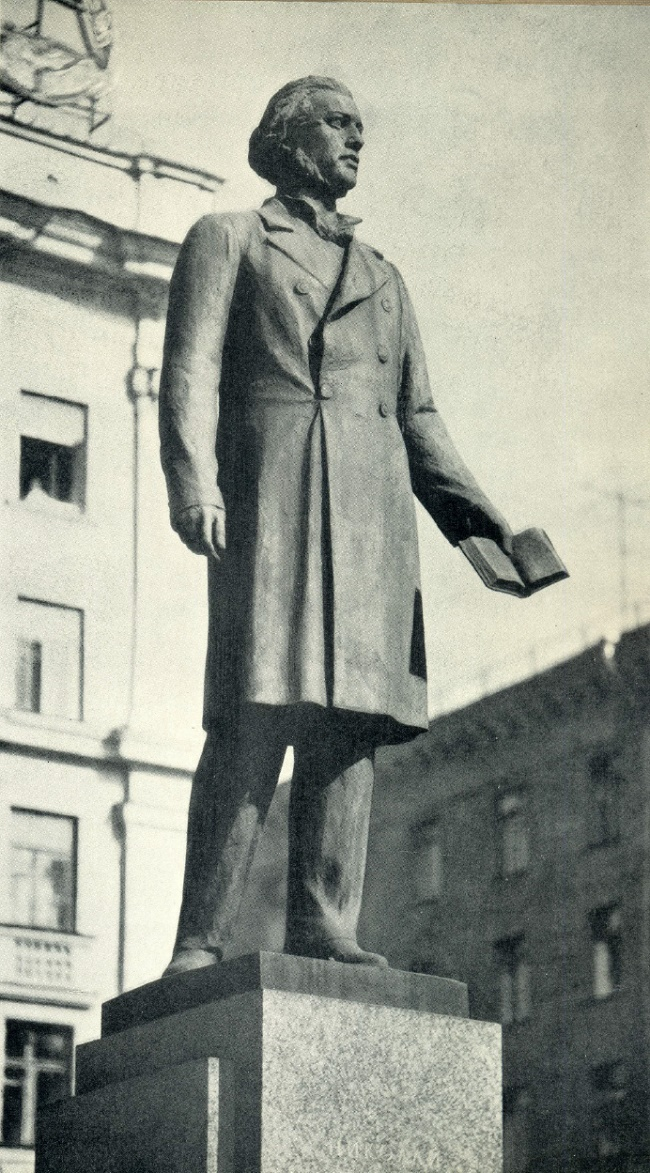 Dobrolyubov monument. Bronze, granite. 1959