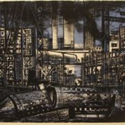 Building site. 1965, etching