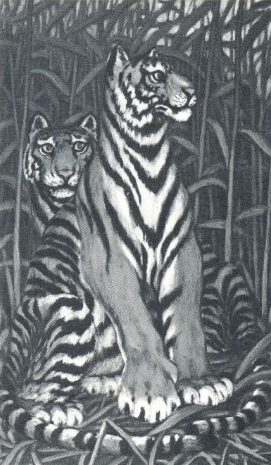F.A. Shalaev. Tigers. 1975