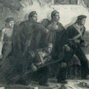 F.S. Bogorodsky. Sailors in a trap. 1927. Oil