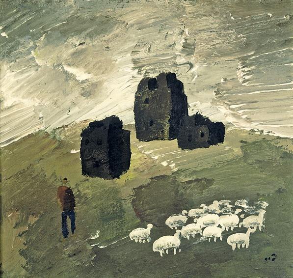 Flock of sheep. 1981