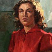 Girl in red. 1959