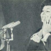 Hungary, concert of Soviet female singer Klavdiya Shulzhenko