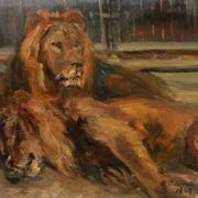 Lions. 1948. Oil on canvas
