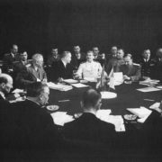 JV Stalin at the Potsdam Peace Conference. Germany. June 1945