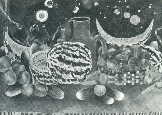 K.K. Kadirov. Still life with water-melon. 1976